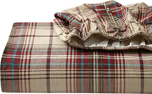 Amazon Com Eddie Bauer Flannel Collection 100 Premium Cotton Bedding Sheet Set Pre Shrunk Brushed For Extra Softness Comfort And Cozy Feel King Montlake Plaid Home Kitchen
