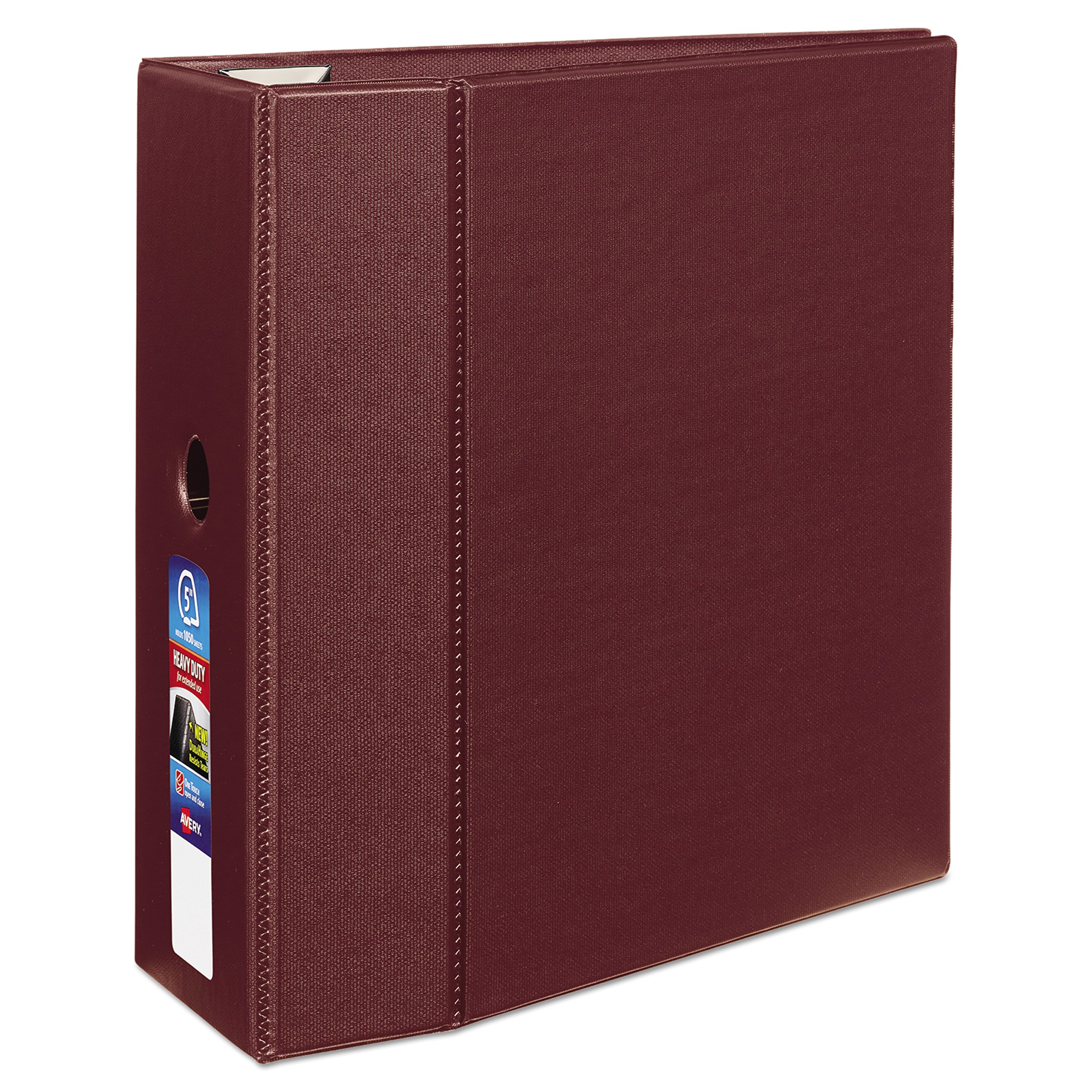 Avery Heavy-Duty Binder with 5-Inch One Touch EZD Ring, Maroon (79366) by AVERY