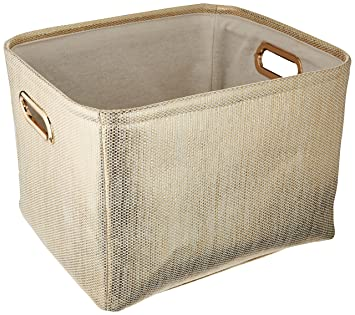 Lambs u0026 Ivy Metallic Storage Container ...  sc 1 st  Amazon.com & Amazon.com: Lambs u0026 Ivy Metallic Storage Container Gold: Baby