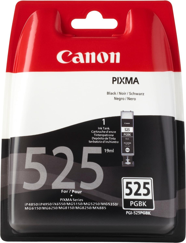 Canon PGI-525 Cartucho de tinta original Negro para Impresora de Inyeccion de tinta Pixma MX715-MX885-MX895-MG5150-MG5250-MG5350-MG6150-MG6250-MG8150-MG8250-iP4850-iP4950-iX6550