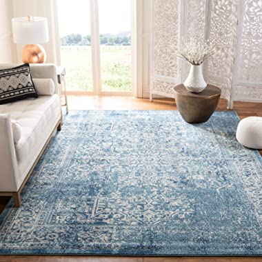 Safavieh Evoke Collection Vintage Oriental Blue and Ivory Area Rug (6'7  x 9')