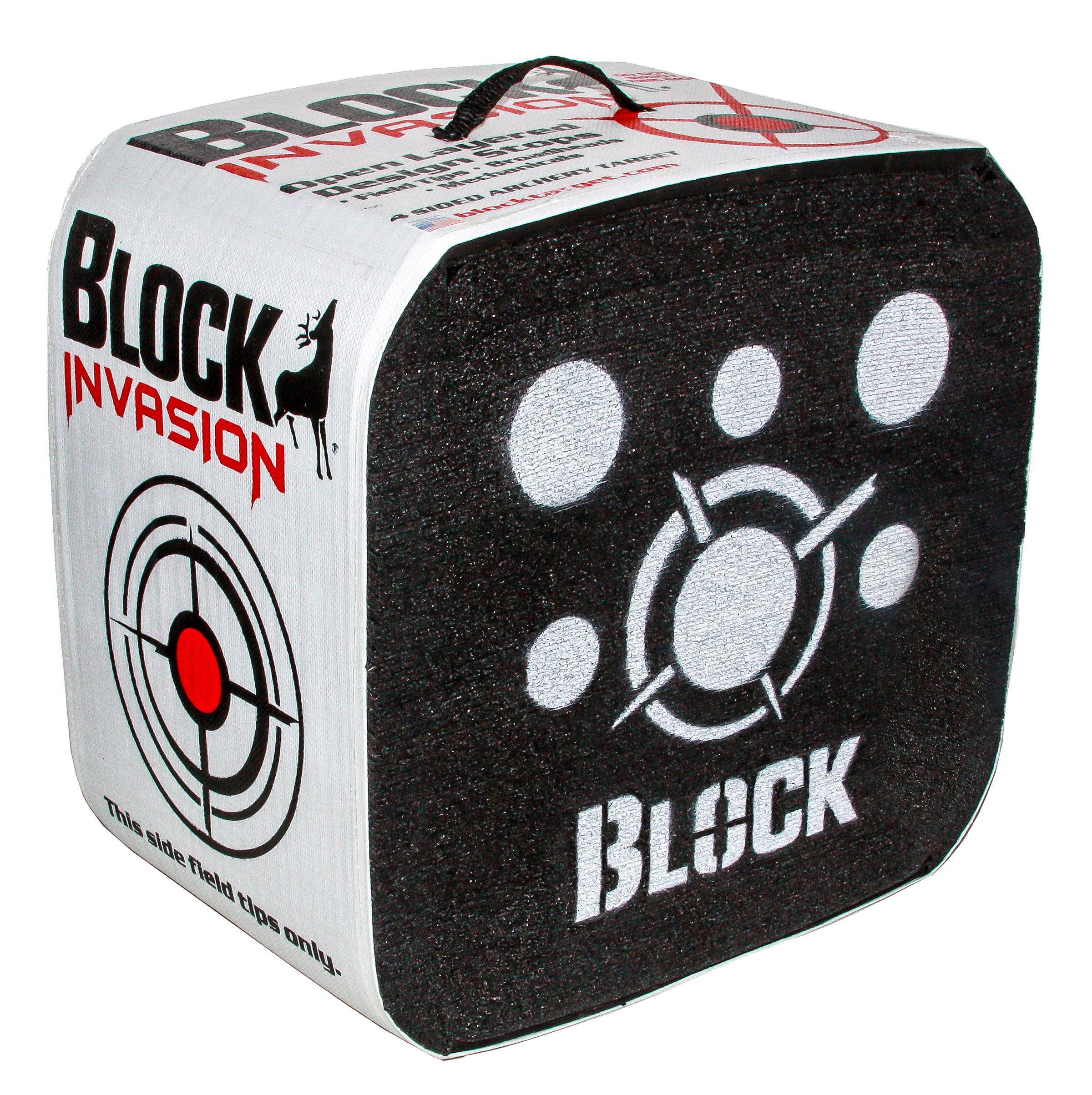 Block Invasion 4-Sided Archery Target - 16x16 inch