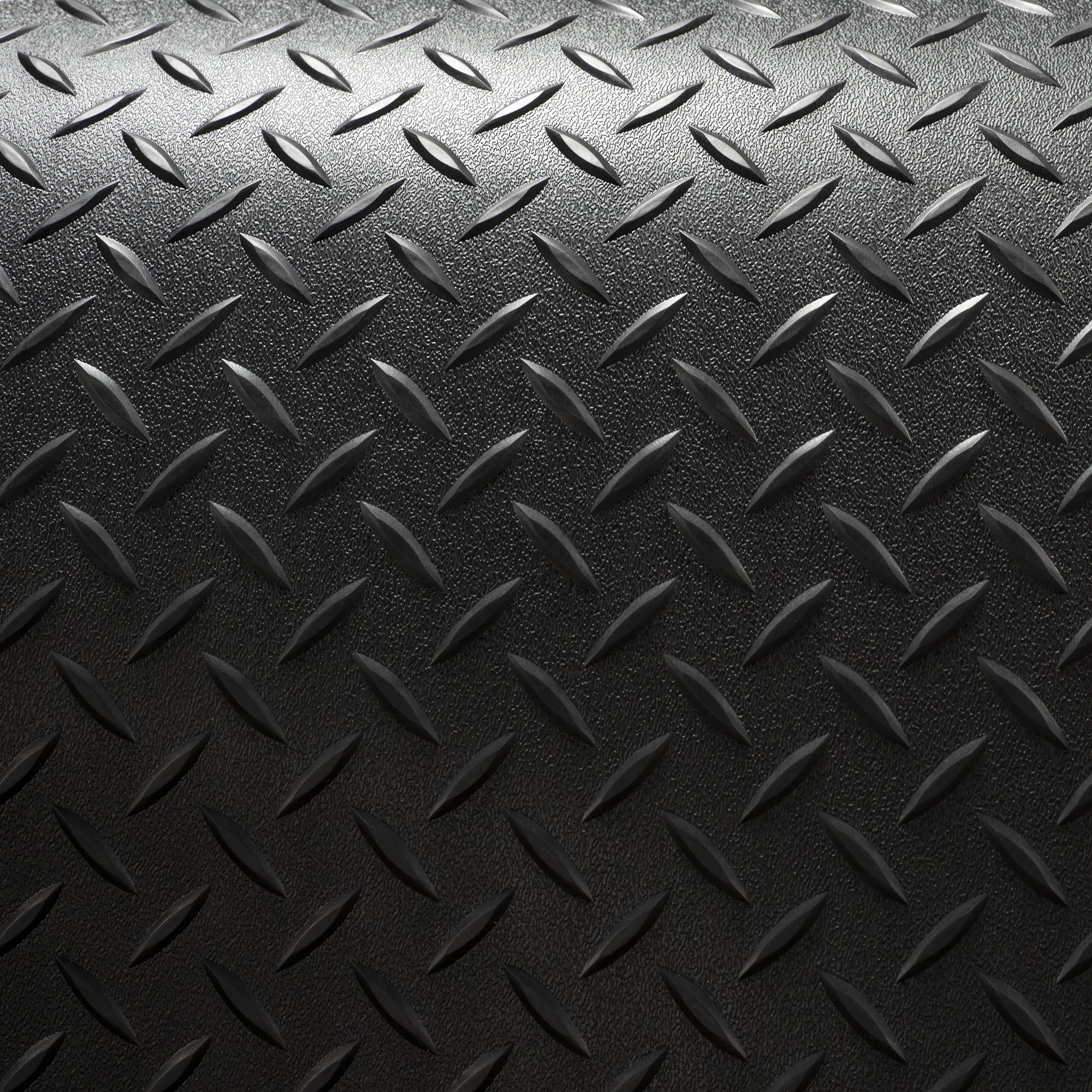 RV Trailer Diamond Plate Pattern Flooring | Black | 8' 2'' Wide | Rubber Flooring | Garage Flooring | Gym Flooring | Toy Hauler Flooring | Car Show Trailer Flooring (Black, 15') by RecPro (Image #4)