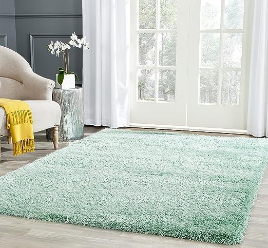 Amazon Com Safavieh Charlotte Shag Collection Sgc720t 2 Inch Thick Area Rug 4 X 6 Teal Furniture Decor