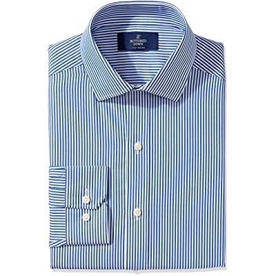 Amazon Brand - BUTTONED DOWN Men's Fitted Pattern Dress Shirt, Supima Cotton Non-Iron: Clothing