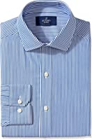 Buttoned Down Men's Fitted Pattern Non-Iron Dress Shirt