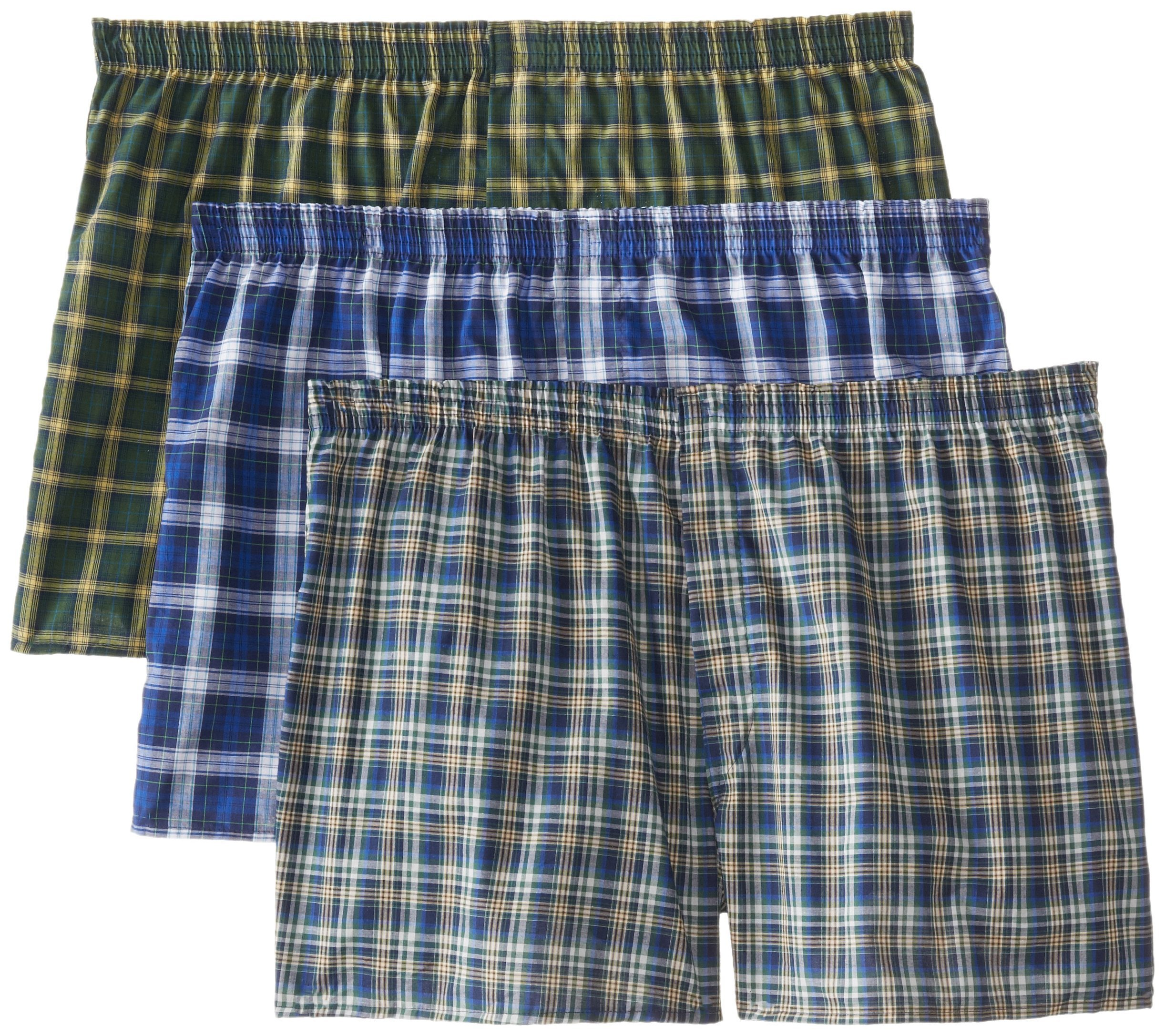 Fruit of the Loom Men's BigMan Woven Boxer, Assorted, 2XB(Pack of 3) by Fruit of the Loom