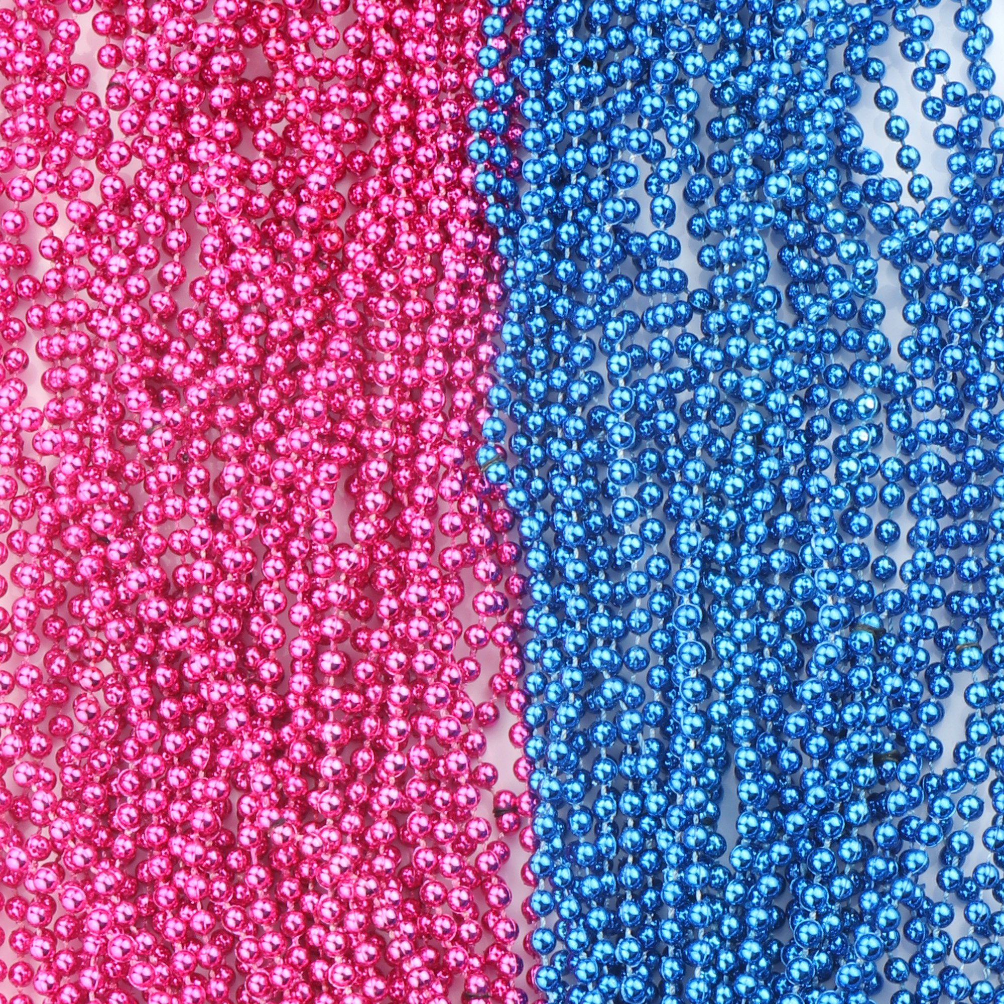 SOTOGO 50 Pcs Baby Gender Reveal Beads Baby Shower Announcement Party 4mm Round 30 inch
