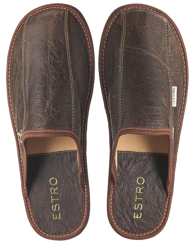 ESTRO Rust Lujo Zapatillas de Estar por casa la de los Hombres: Amazon.es: Zapatos y complementos