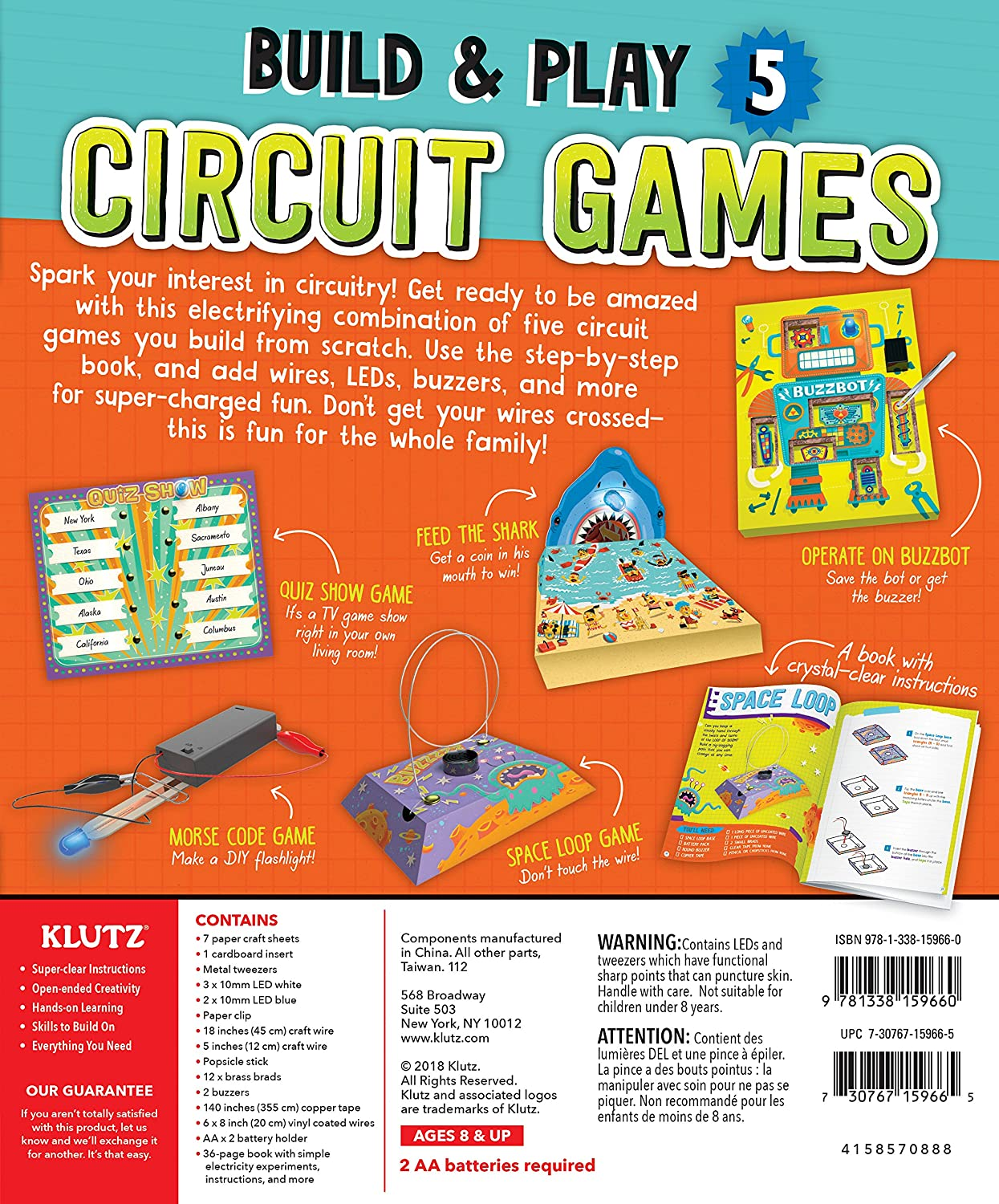 Klutz Maker Lab Circuit Kit Toys Games Fun And Easy To Build Buzzer