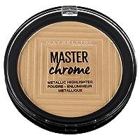 Maybelline New York Terra Viso Illuminante Master Chrome, Formula in Polvere, 100Molten Gold, 9gr