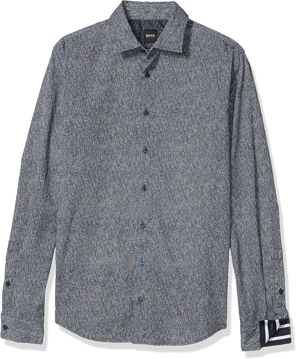 Hugo Boss Men's All Over Pattern Button Down Shirt