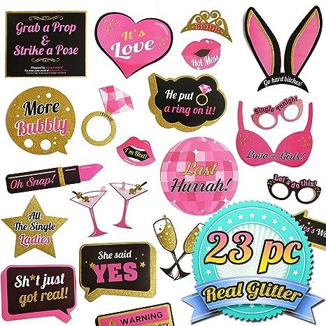 amazon com bachelorette party photo booth props kit bridal shower
