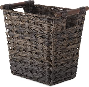 Whitmor Split Rattique Driftwood Brown Waste Basket