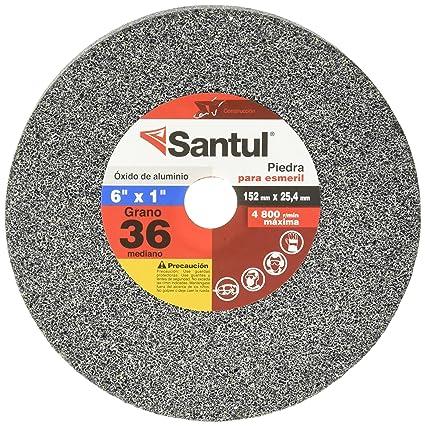 """dfc65236a16e Santul 7824 Piedra para Esmeril,Óxido de Aluminio, Grano 36, 1"""" ..."""