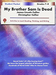 com a guide for using my brother sam is dead in the my brother sam is dead student packet by novel units inc