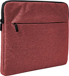 "AmazonBasics Laptop Sleeve with Front Pocket, 15"", Maroon"