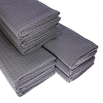 9x Geschirrtücher Küchentücher Putztücher Poliertücher 100/% Baumwolle anthrazit
