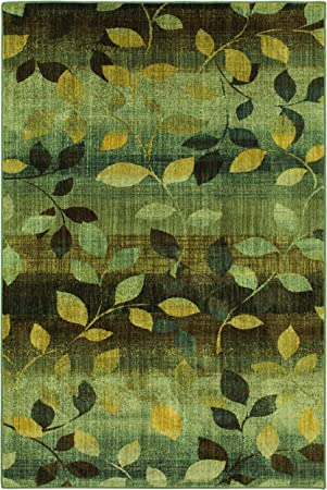 Amazon Com Mohawk Savannah Dappled Sea Floral Woven Area Rug 8 X11 Green And Yellow Furniture Decor