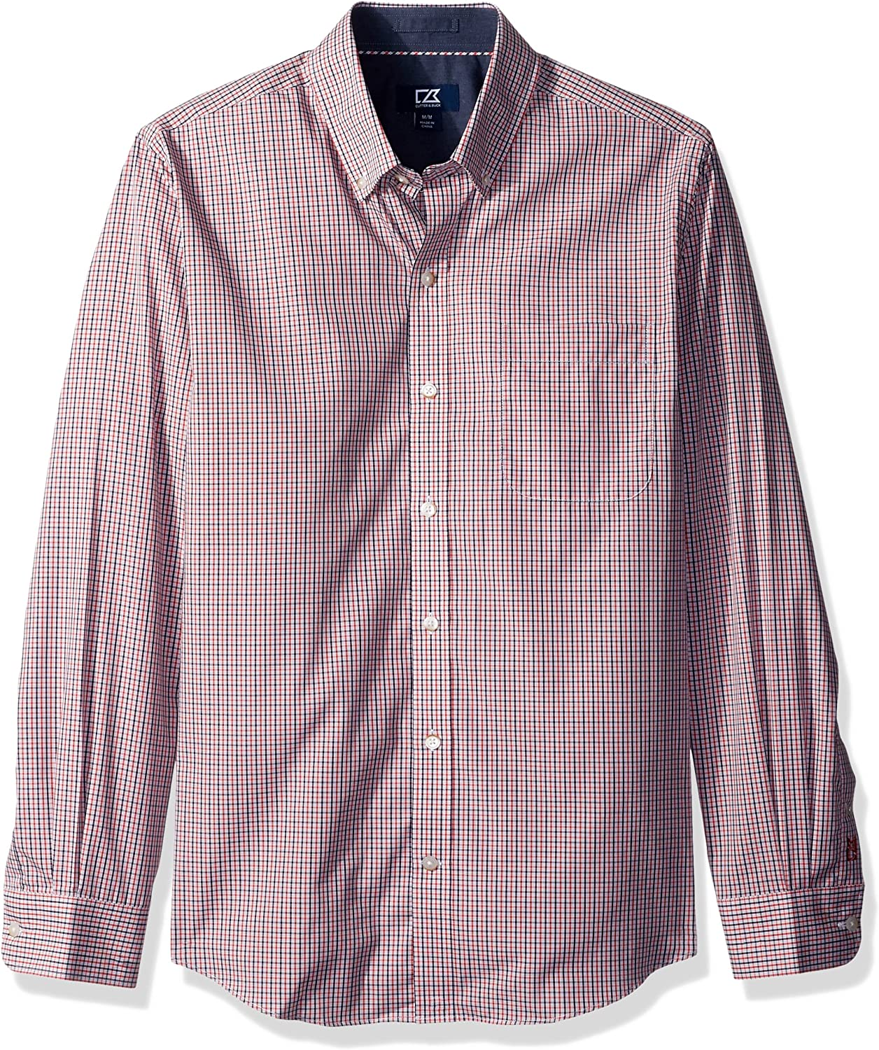 Cutter & Buck Men's Small Plaid and Check Easy Care Button Down Collared Shirts