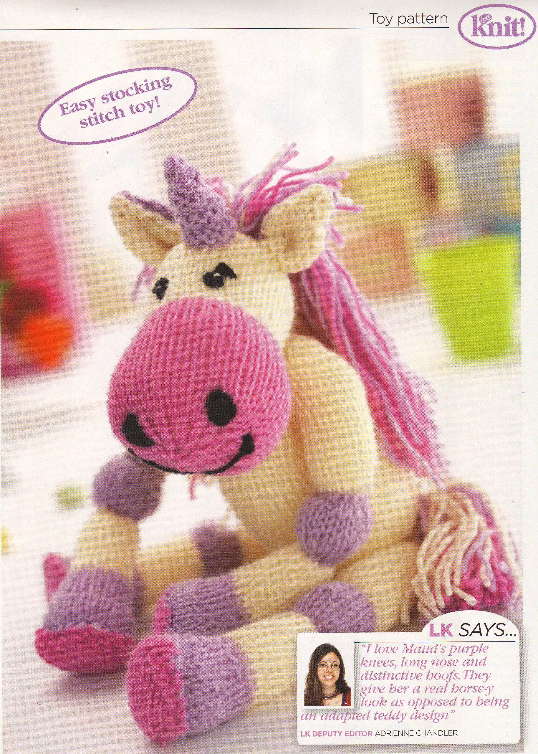 Toy Unicorn Knitting Pattern: Materials Cygnet Superwash DK