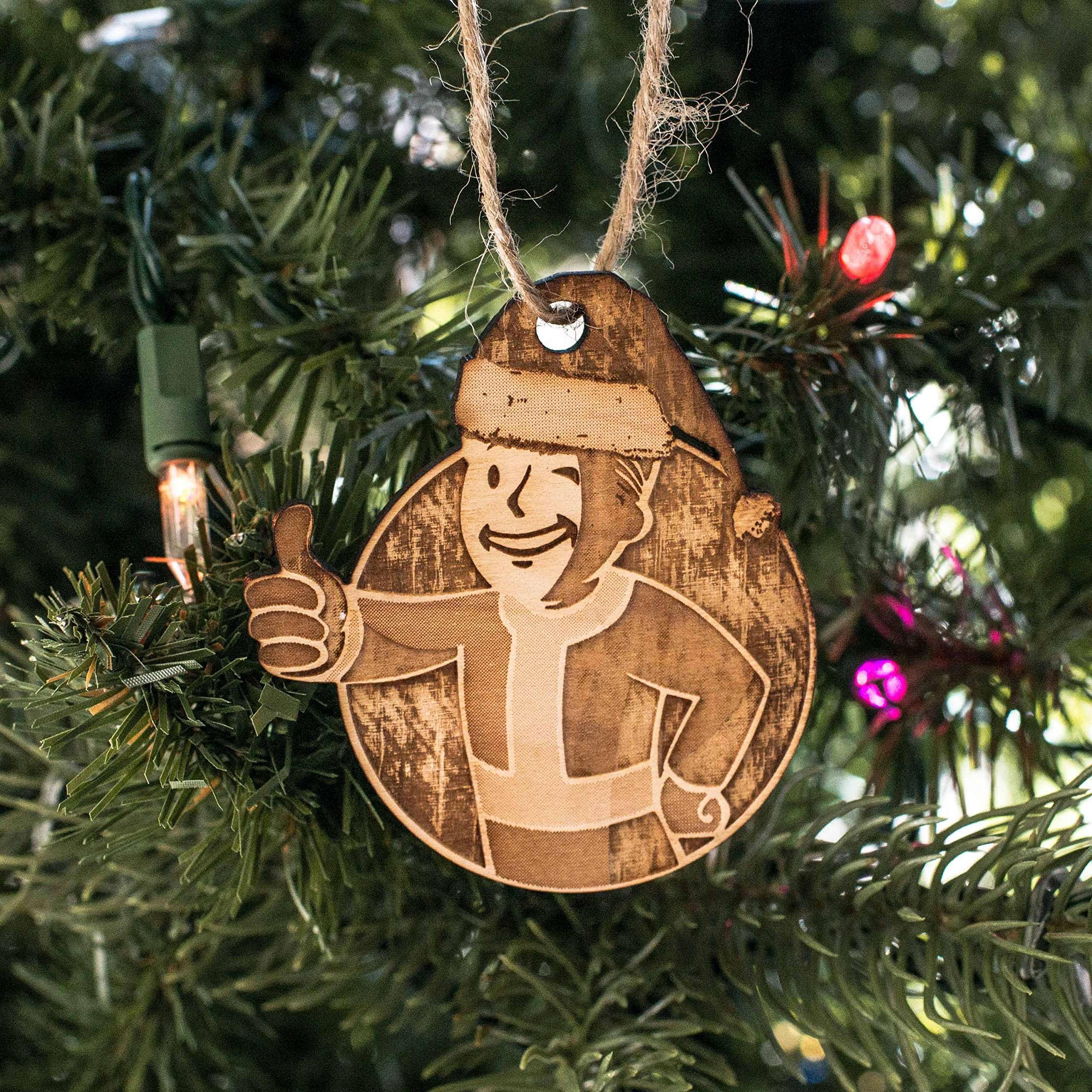 Ornament - VBoy - Raw Wood 3x3in