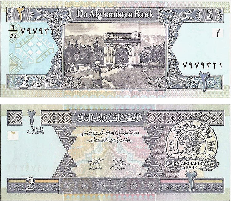 Stampbank La cifra de Billetes para coleccionistas - El Banco Central de Afganistan / 2 / afgans Crujiente y Nota Fuera de circulación emitidas en el año 2002 / Dinero Papel Genuino: Amazon.es: Juguetes y juegos