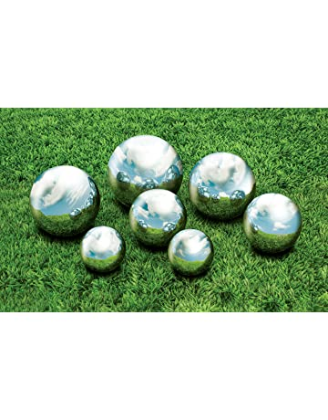 Kovot 7 Piece Garden Sphere Set   7 Stainless Steel Gazing Balls Ranging  From 2 3