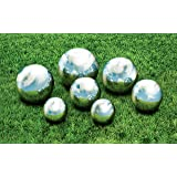 "KOVOT 7 Piece Garden Sphere Set - 7 Stainless Steel Gazing Balls Ranging From 2 3/8"" - 4 3/4"""