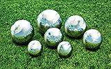 "Kovot 7 Piece Garden Sphere Set - 7 Stainless Steel Gazing Balls Ranging from 2 3/8"" - 4"