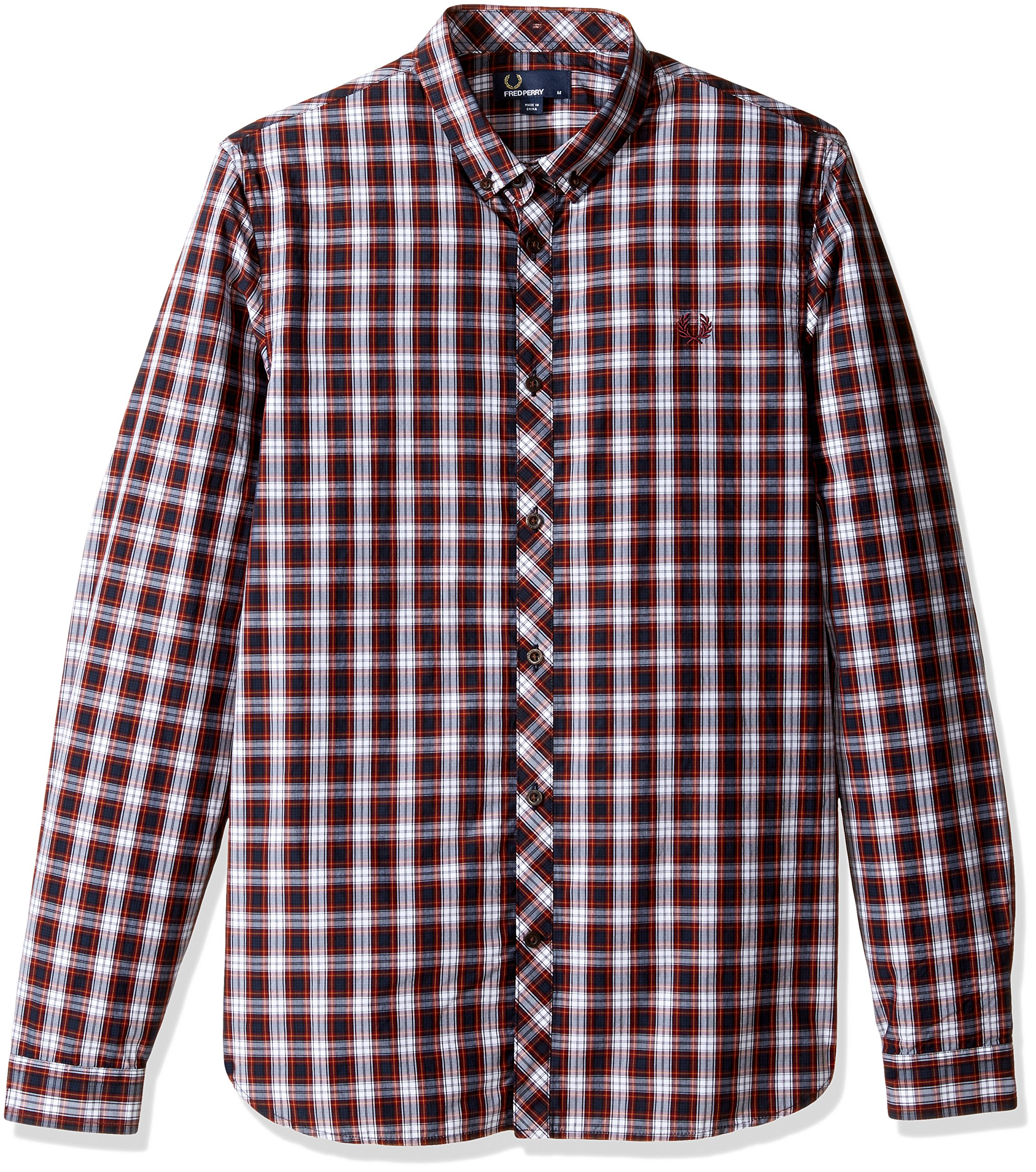Fred Perry Men's Summer Tartan Shirt, Rosewood, X-Large