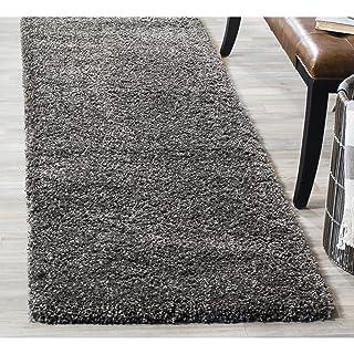 "Safavieh California Premium Shag Collection SG151-8484 Area Rug, 2' 3"" x 5', Dark Grey"