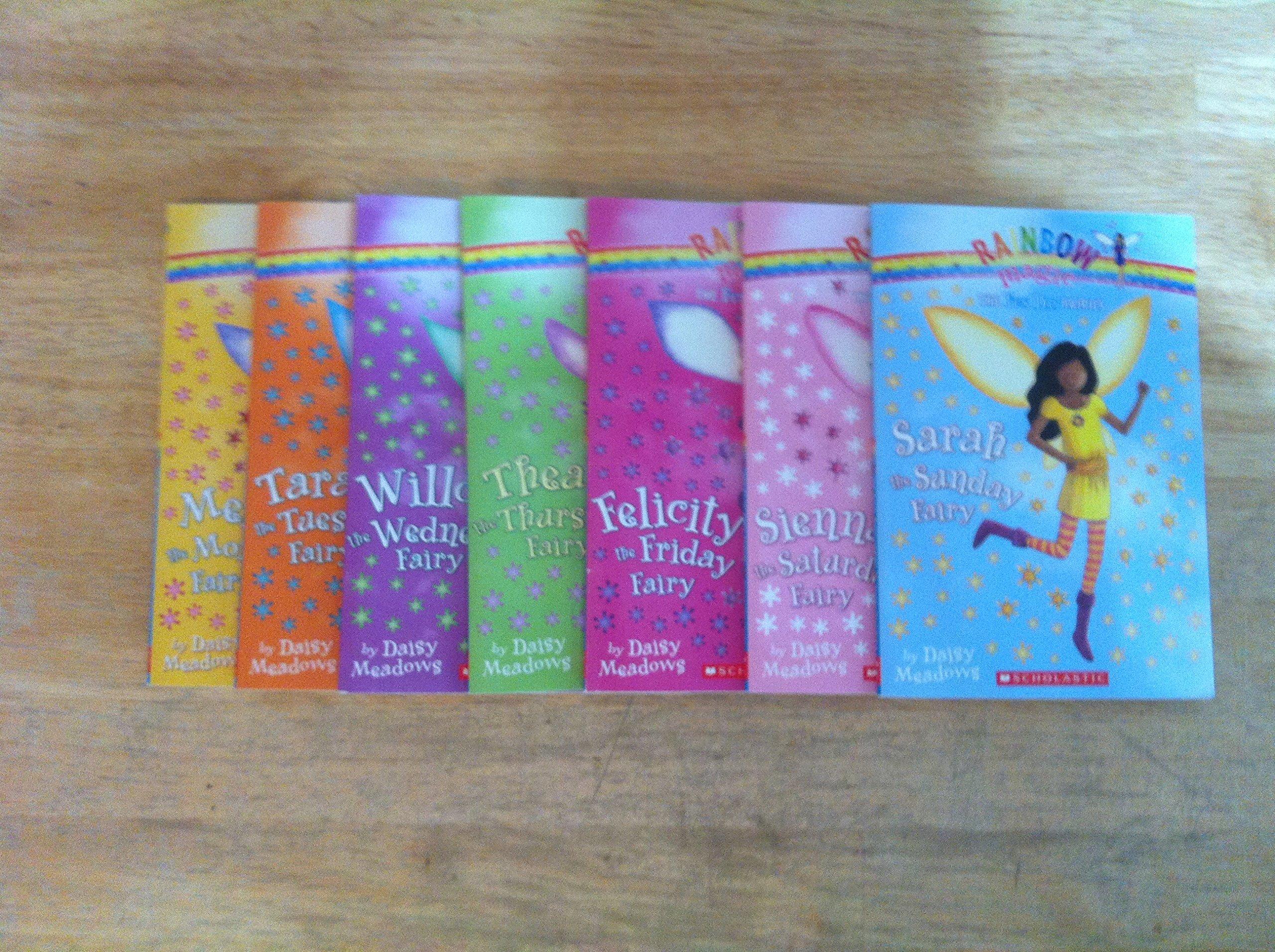 The Fun Day Fairies Set (7 Books) (Rainbow Magic, #1 Megan the Monday Fairy; #2 Tara the Tuesday Fairy; #3 Willow the Wednesday Fairy; #4 Thea the Thursday Fairy; #5 Felicity the Friday Fairy; #6 Sienna the Saturday Fairy; #7 Sarah the Sunday Fairy) ebook