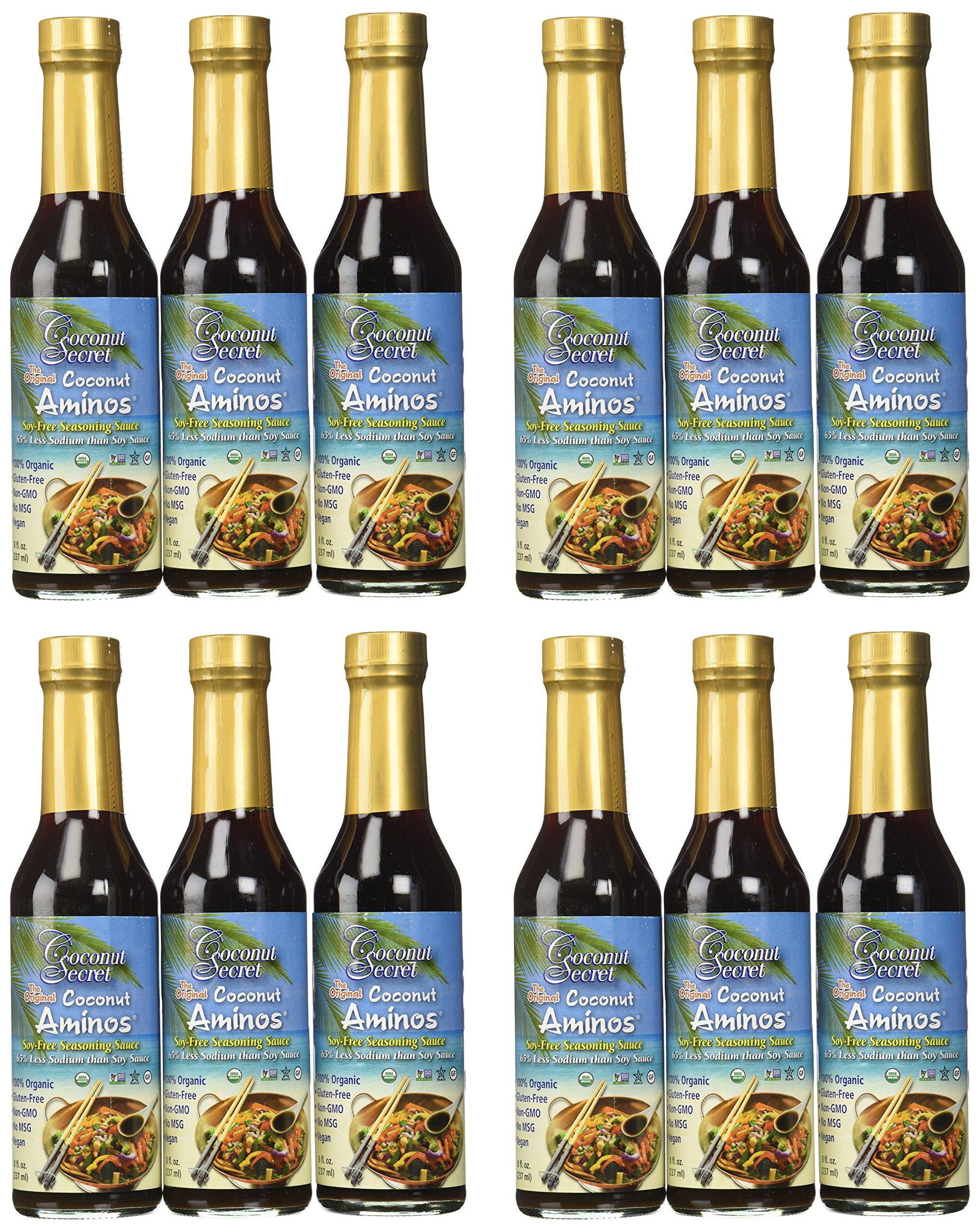 Coconut Secret - Organic Raw Coconut Aminos, 8 Fluid Ounce - 12 per case.