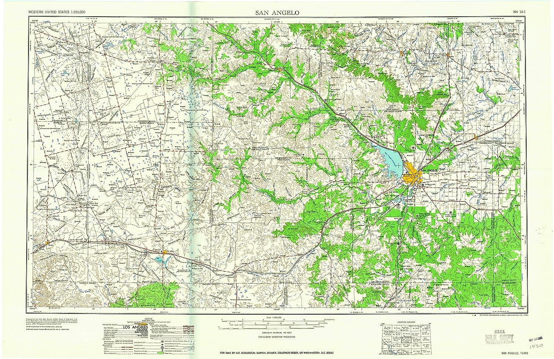 Amazon Com Yellowmaps San Angelo Tx Topo Map 1 250000 Scale 1 X