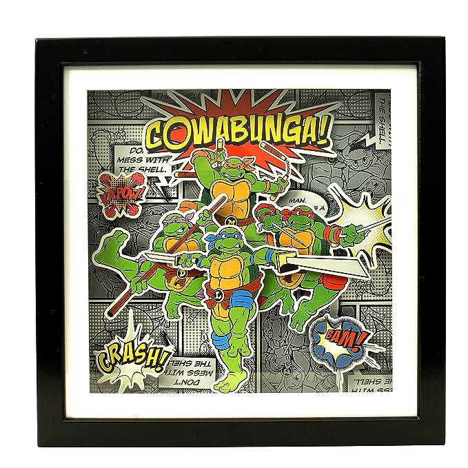Silver Buffalo NT6506SB - Caja de Sombra de Tortugas Ninja ...