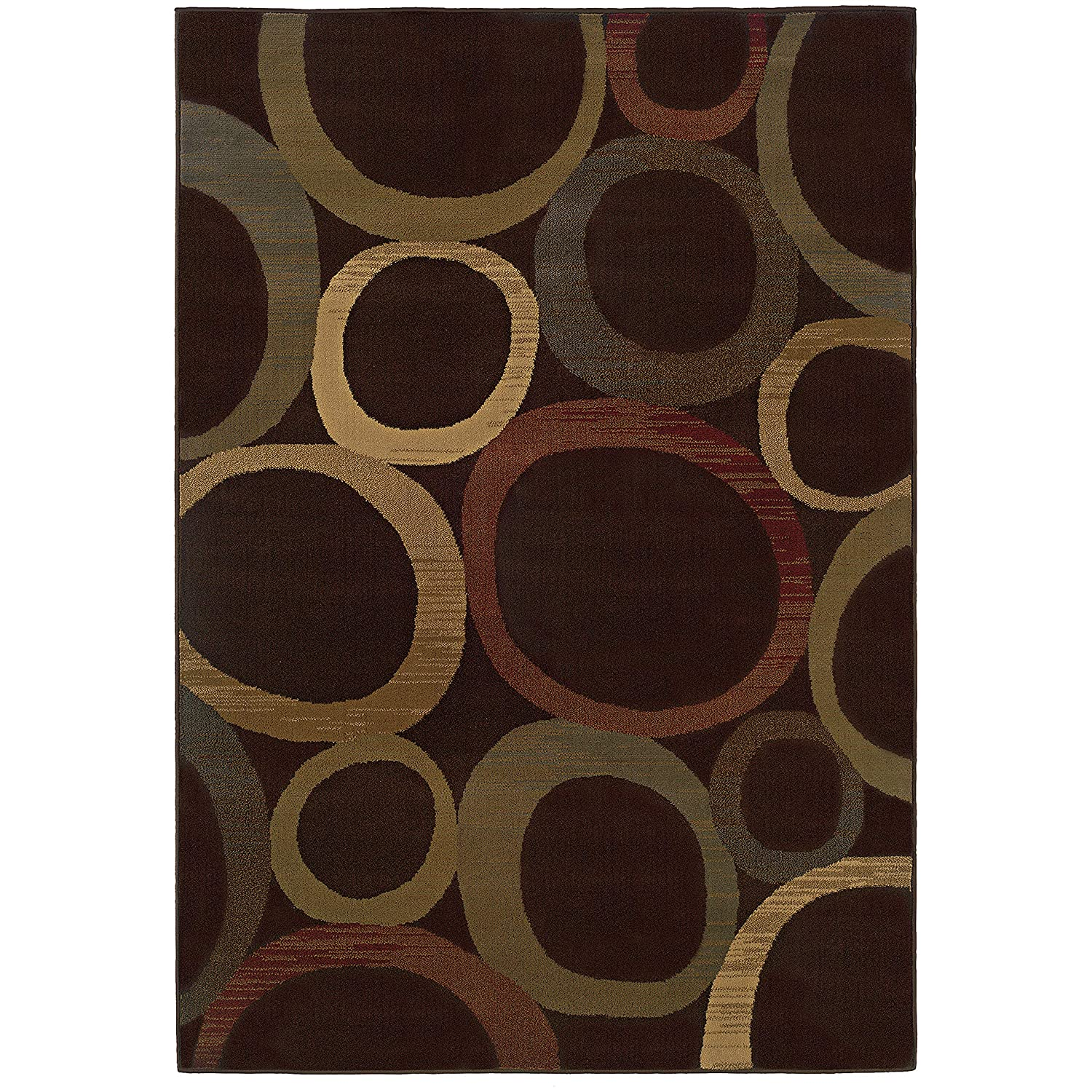 Christopher Knight Home CK-D1632 Trinity Circles Indoor Area Rug 1ft 10in X 2ft 10in Brown,Beige