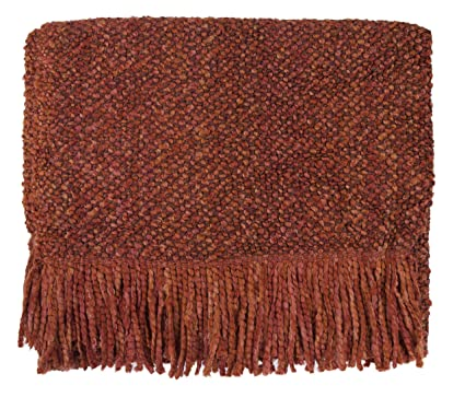amazon com bedford cottage campbell throw blanket spice home rh amazon com Kennebunk Throw Blue Comfort Tech Faux Fur Throw