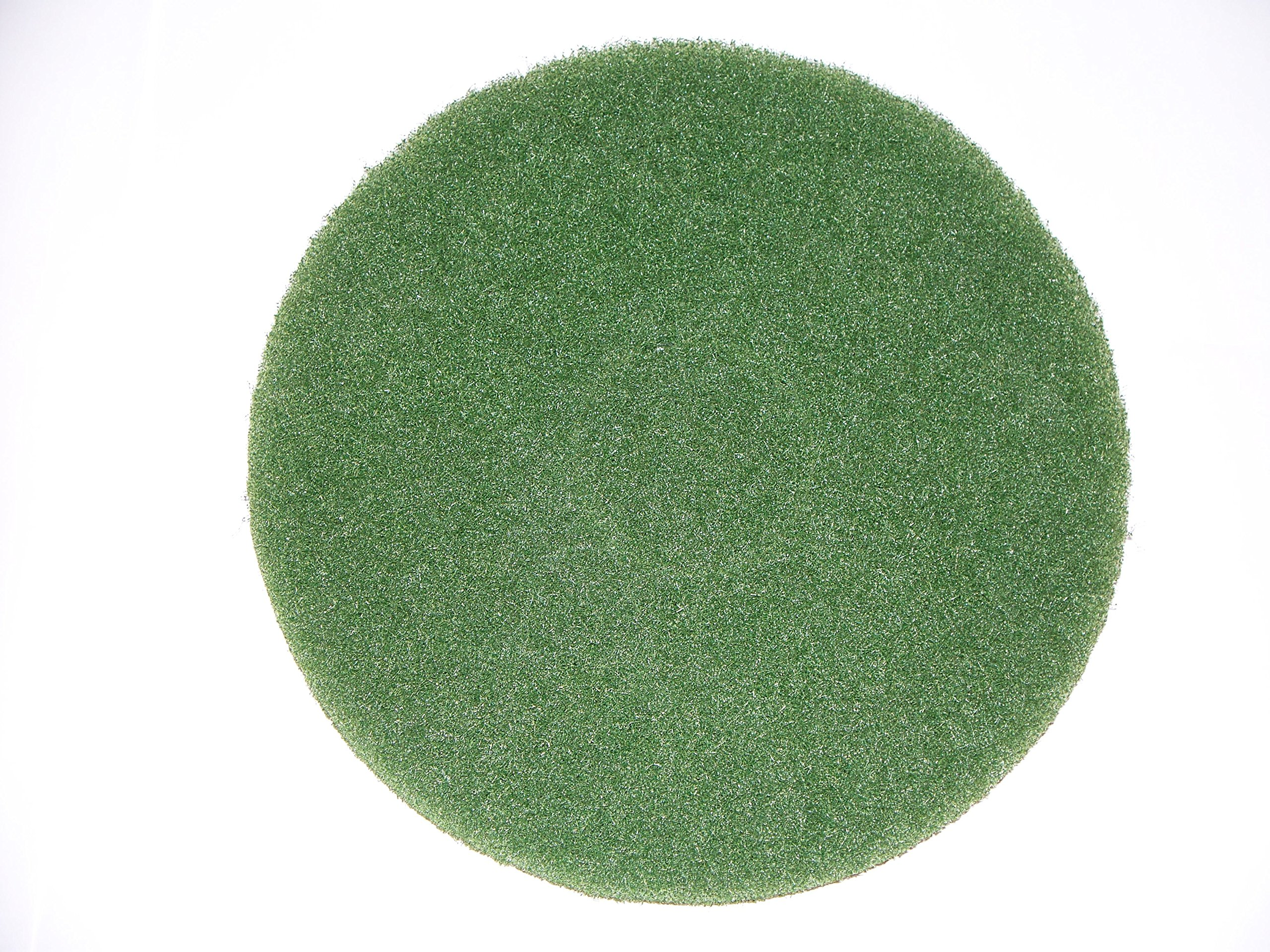 BISSELL BigGreen Commercial 437.056BG-C Cleaning Pad for BGEM9000 Easy Motion Floor Machine, 12'', Green (Pack of 5)