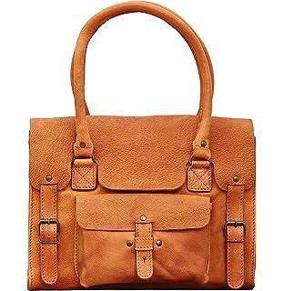 MARIE Naturel sac à main en cuir de buffle pleine fleur forme polochon style vintage PAUL MARIUS LOz8i