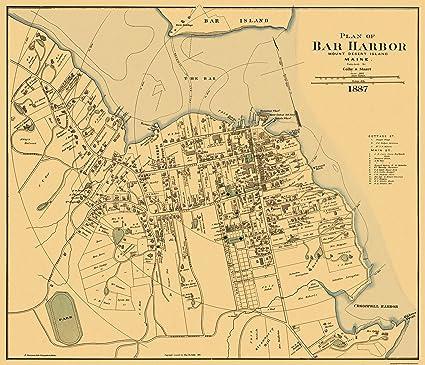 Amazon.com: Old City Map - Bar Harbor Maine Landowner - 1887 ... on east coast maine map, maine county map, bath maine map, kennebunkport maine map, ogunquit maine map, maine hotel map, newagen maine map, brunswick maine map, state of maine map, booth bay maine map, bangor maine map, castine maine map, portland maine map, national harbor map, blue hill maine map, southwest harbor maine map, airports in maine map, mount desert island maine map, acadia national park maine map, bucksport maine map,