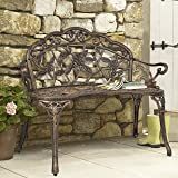 Best Choice Products Outdoor Patio Garden Bench Park Yard Furniture Cast Iron Antique Rose Bronze