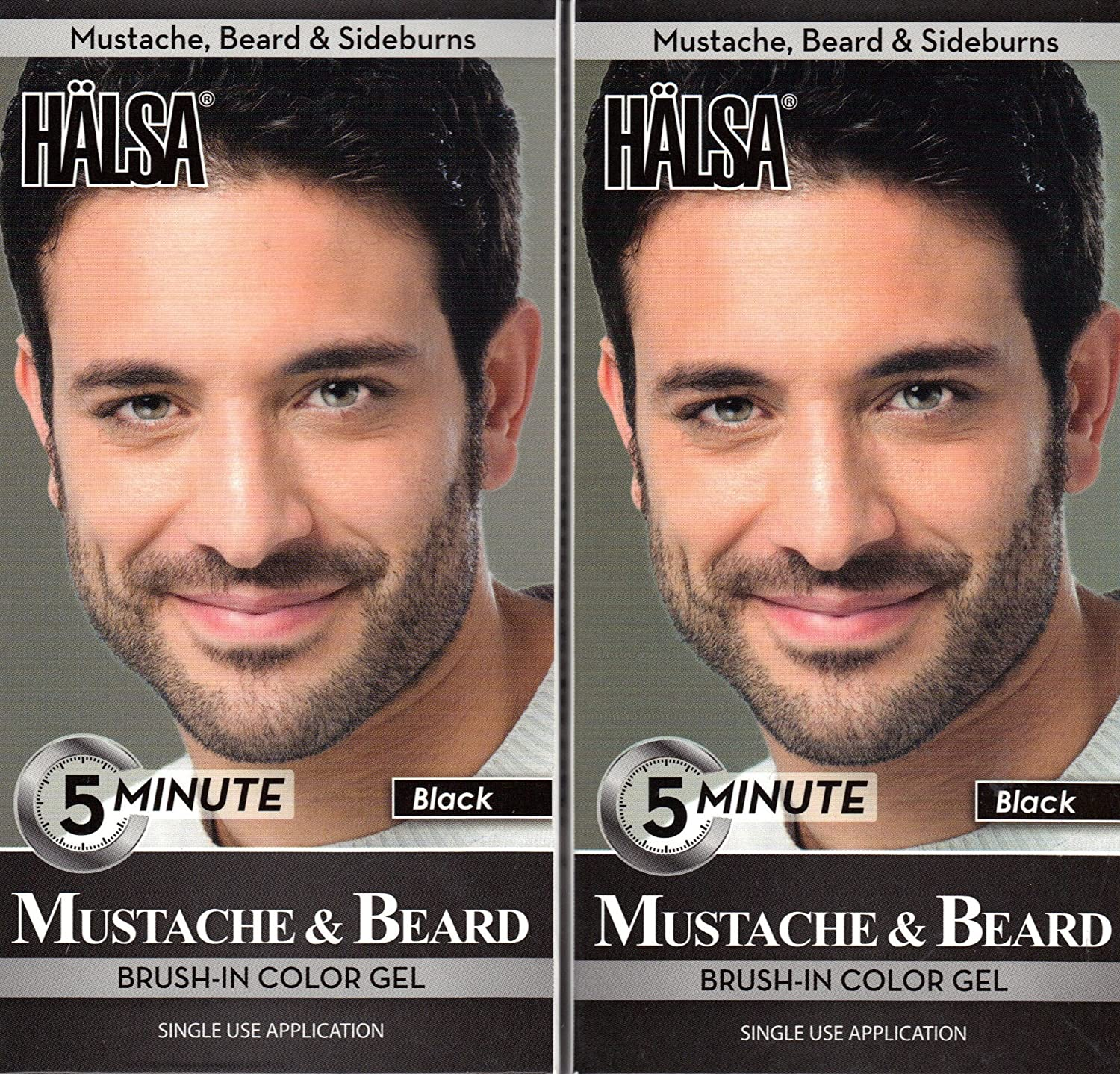 Amazon.com : Halsa Men Mustache & Beard Facial Hair Color Gel 5 ...