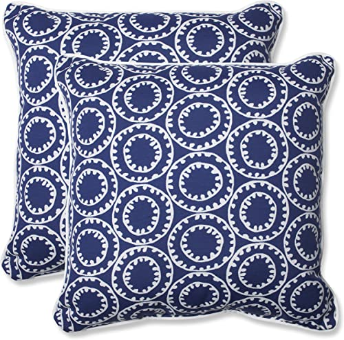 Pillow Perfect 568294 Outdoor/Indoor Ring a Bell Navy Throw Pillow