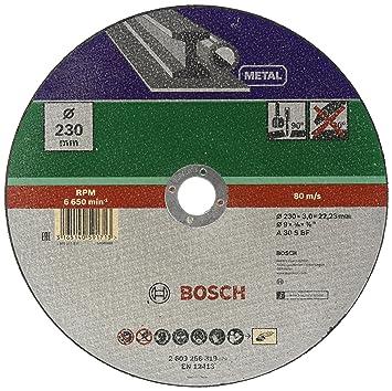 Turbo Bosch DIY Trennscheibe Metall (für Winkelschleifer, Ø 230 mm VM46