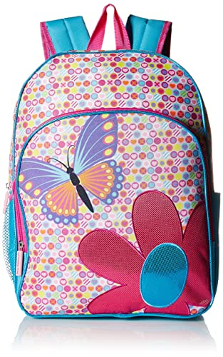 Pink Platinum Girls' Butterfly 16 Backpack, Pink