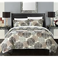 Chic Home 1 Piece Judith Boho Inspired Reversible Print Quilt Set