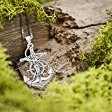 Sterling Silver Crucified Jesus on an Anchor