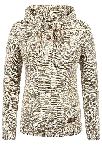 Desires Philaria Jersey De Punto Suéter Sudadera De Punto Grueso con Capucha para Mujer con Capucha De 100% algodón: Amazon.es: Ropa y accesorios