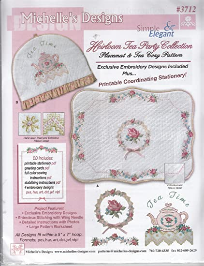 Amazon Michelles Designs Heirloom Tea Party Collection Machine